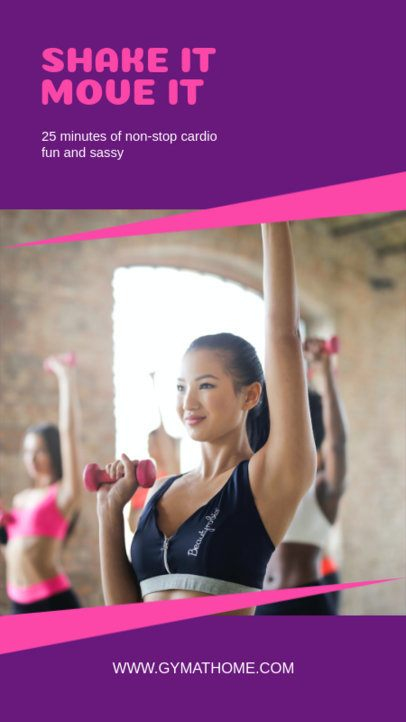 Instagram Story Maker with a Fitness Online Class Advertisement 1475b-el1