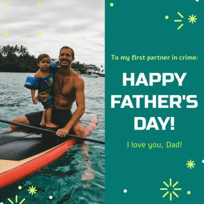Instagram Post Generator with a Father's Day Picture 2545c