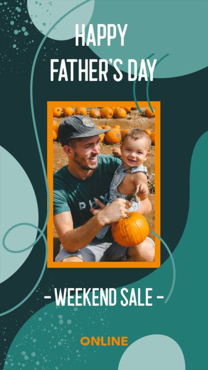 Father's Day-Themed Instagram Story Design Template for a Weekend Sale 2544e