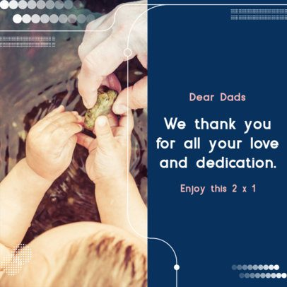 Instagram Post Generator with a Father's Day Special Thanks Message 2545g
