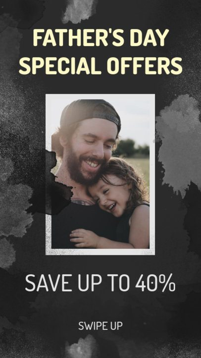 Instagram Story Design Maker for Father's Day Special Offers 2544c