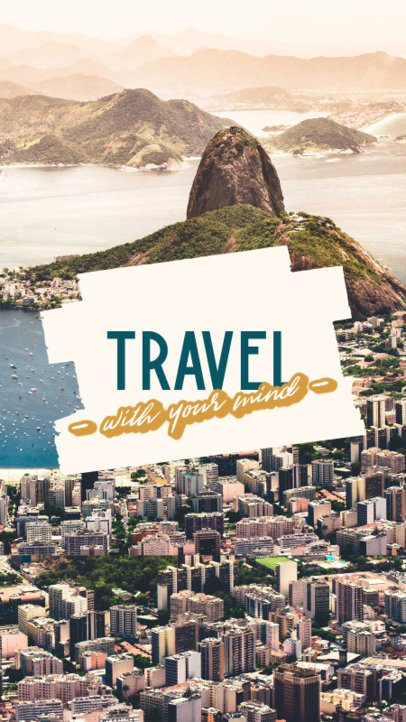 iPhone Wallpaper Design Template with a Travel Theme 2547p