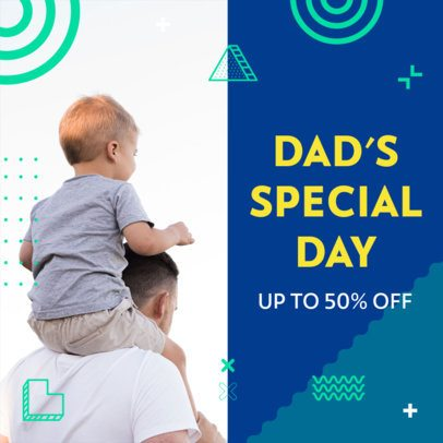 Instagram Post Creator with an Offer for Father's Day 2545j