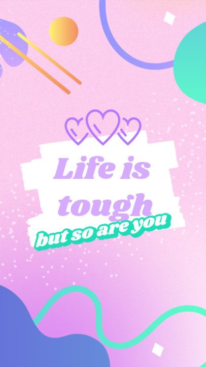 Girly iPhone Wallpaper Design Maker with an Empowering Quote 2547q