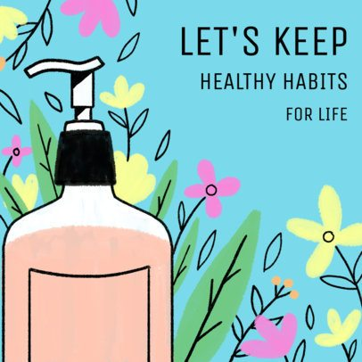 Illustrated Instagram Post Generator to Promote Healthy Habits 2538d