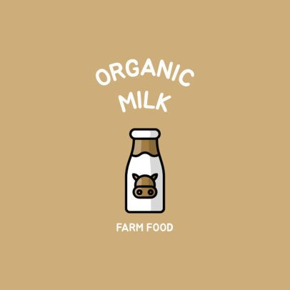 Logo Creator for a Farm Food Place with a Milk Carton Icon 1491e-el1