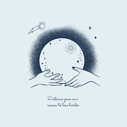 Quote Facebook Post Maker Featuring Hands Holding a Moon 2539f