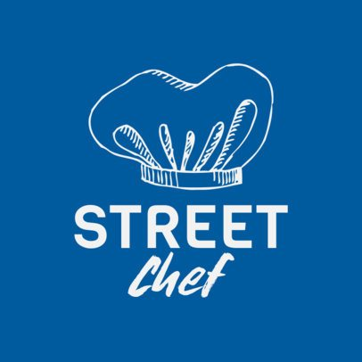 Food Truck Logo Creator Featuring a Chef Hat Graphic 1534d-el1