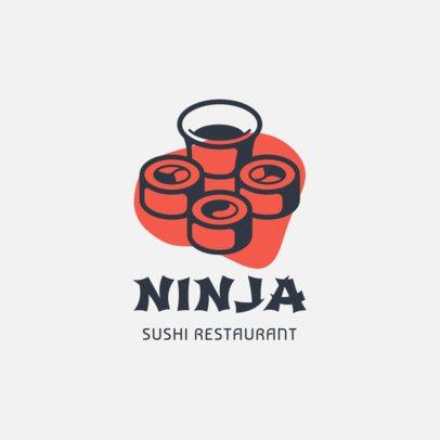 Japanese Restaurant Logo Creator Featuring Sushi Rolls 1488d-el1