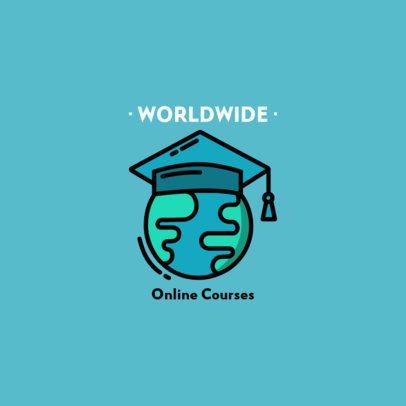 Simple Logo Template for Online Course Platforms 1571a-el1