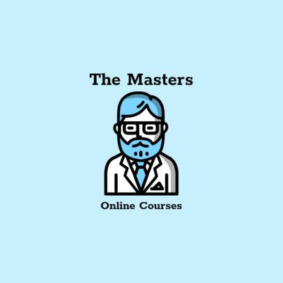 Logo Template for Online Courses Featuring a Professor Icon 1571d-el1