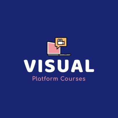Logo Creator for an Online School Featuring a Computer Graphic 1500b-el1