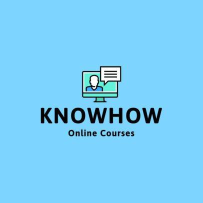 Online Course Logo Maker with a Computer Graphic 1500e-el1