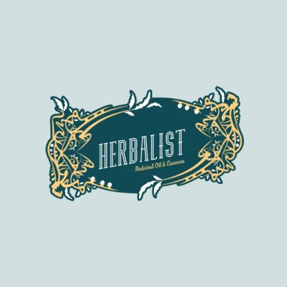 Logo Maker for a Herbal Brand with an Art Nouveau Style 3280b