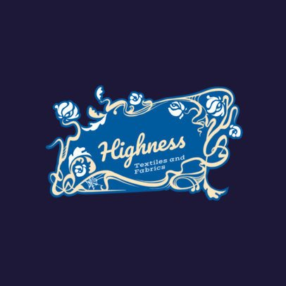 Art Nouveau Logo Maker for a Textile Company 3280c