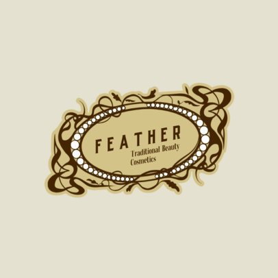 Logo Template for a Cosmetics Brand Featuring an Art Nouveau Style 3280f