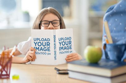 Mockup of a Girl Reading a Kids Book 34670-r-el2