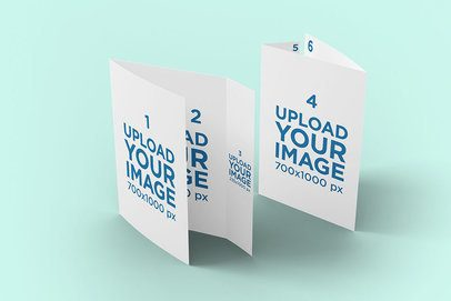 Mockup of Two Wrap-Around Brochures in a Plain Setting 4199-el1