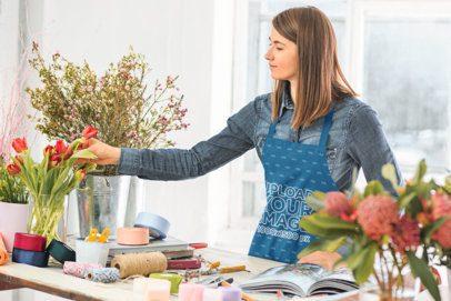 Apron Mockup Featuring a Female Florist 34720-r-el2