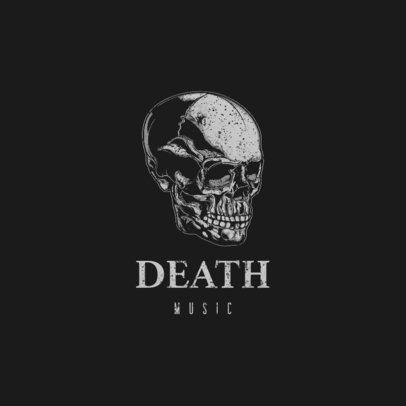 Music Logo Maker with Dark Graphics of Skulls and Bones 1632-el1