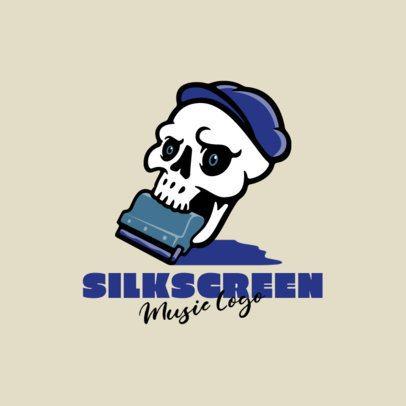 Music Logo Maker Featuring Cartoonish Skeletons 1628-el1