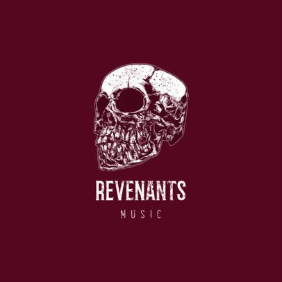 Musician Logo Maker with an Intense Skull Illustration 1632b-el1