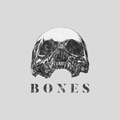 Logo Creator with an Impressive Graphic of a Skull 1632c-el1