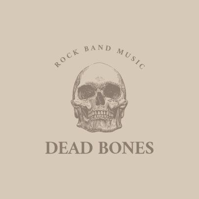 Logo Maker for Rock Bands Featuring Engraved Skulls and Bones Graphics 1633-el1