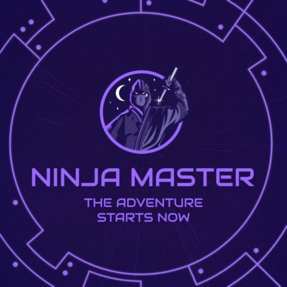 Facebook Post Maker for Gamers With a Dark Ninja Graphic 2559n