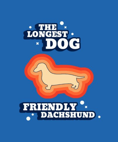 T-Shirt Design Generator Featuring a Dachshund Silhouette with Colorful Strokes 1544b-el1