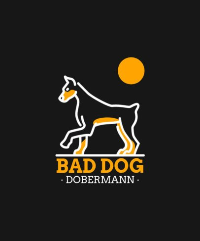 T-Shirt Design Maker Featuring Breed Dog Outline Graphics 1556-el1