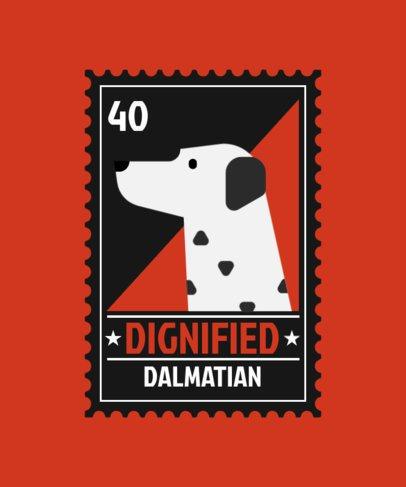 T-Shirt Design Creator Featuring a Dalmatian Dog Graphic 1519a-el1