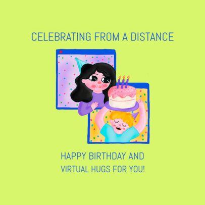Facebook Post Creator for a Distant Birthday Celebration 2551b