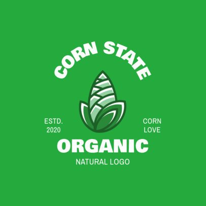Logo Creator for a Brand Producing Organic Corn 1602a-el1