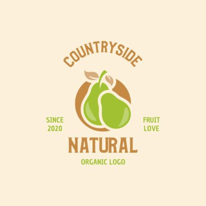 Natural Products Logo Creator Featuring Two Pears 1602d-el1