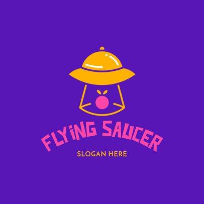 Restaurant Logo Maker with a Fun Alien Theme 3298e