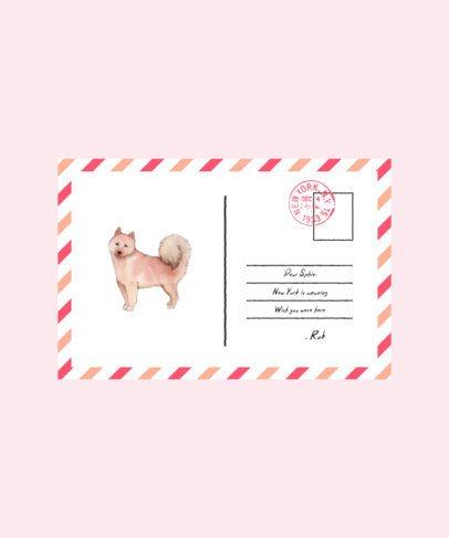 T-Shirt Design Illustration with a Postcard Design for Dog Owners 1537a-el1