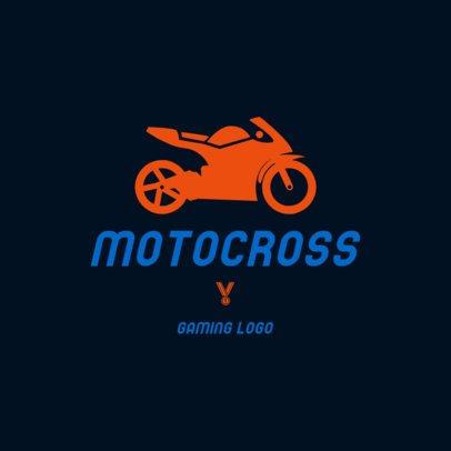 Motocross Gaming Logo Maker 1647d-el1