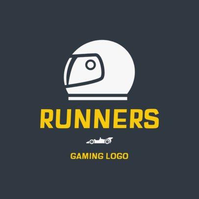 Logo Template Featuring a Racing Helmet 1647e-el1