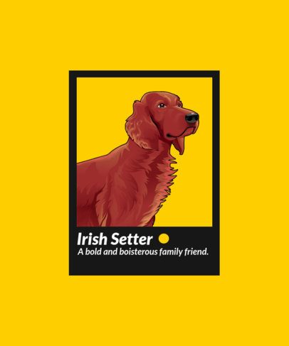 T-Shirt Design Maker Featuring an Irish Setter 1548b-el1