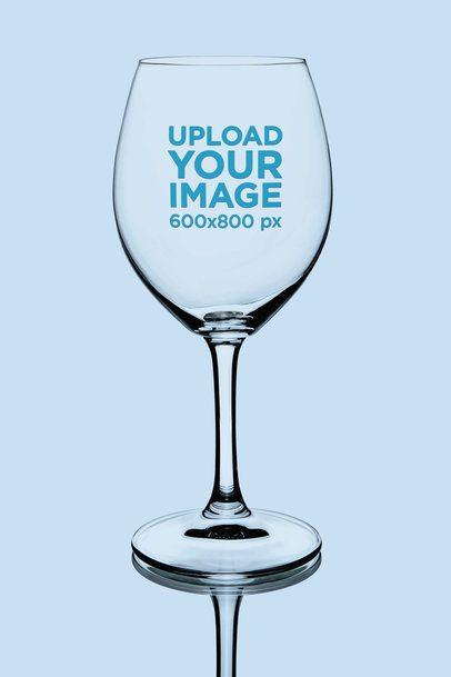 Wine Glass Mockup Featuring a Solid Color Backdrop 36446-r-el2