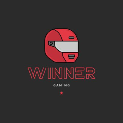 Logo Template for Gamers Featuring a Racing Helmet Icon 1649b-el1