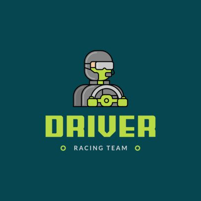 Gaming Logo Template Featuring a Race Car Driver Graphic 1649e-el1