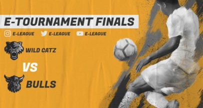 Twitch Banner Maker for a Soccer e-Tournament 2553e