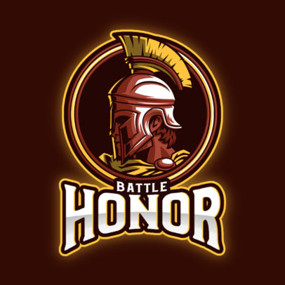 Gaming Logo Maker with the Graphic of an Honorable Warrior 3297l