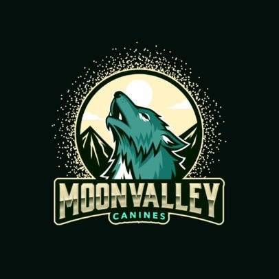 Online Logo Maker Featuring a Howling Wolf Illustration 3291b