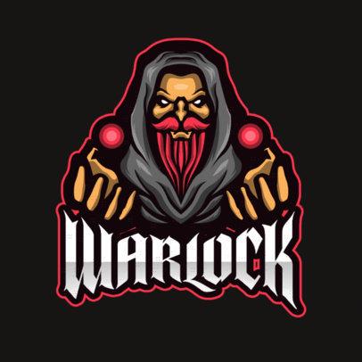 Gaming Logo Creator Featuring a Warlock Graphic 1762b-el1