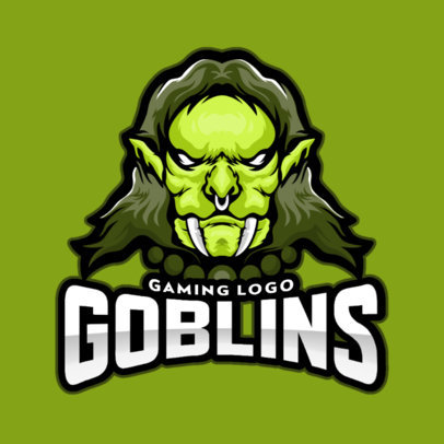 Gaming Logo Maker Featuring a Fierce Goblin 1763c-el1