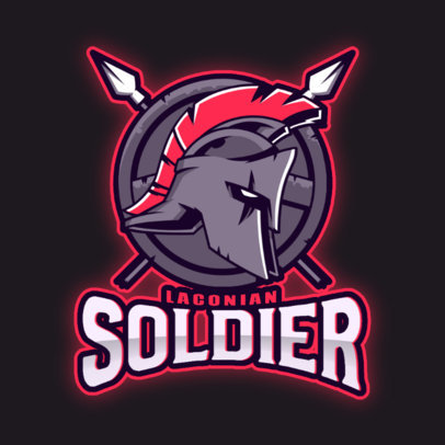 Gaming Logo Creator Featuring the Helmet of a Gladiator 3297o