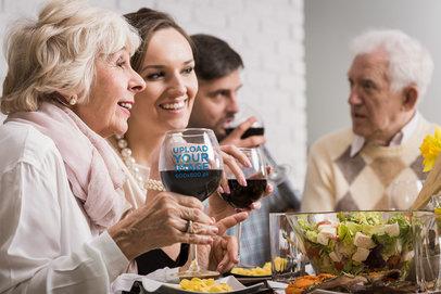 Mockup of a Senior Woman Holding a Wine Glass 36447-r-el2
